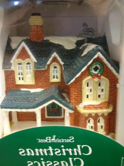 Santa's Best Christmas Classics - Brown House with Horse Wea