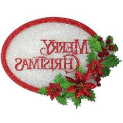 Holiday Time Christmas Decor Glittered Merry Vacuum Decor |