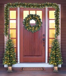 Holiday Time Christmas Decor Pre-Lit 5-Piece Entryway Set, C