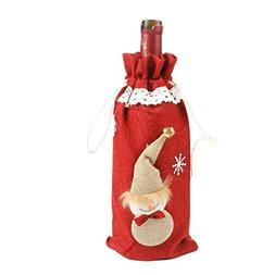 FANRENYOU Christmas Decor for Home Xmas Wine Bottle Bag Cove