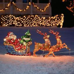 Christmas Decoration Freestanding Elk Sculpture with LED Lig