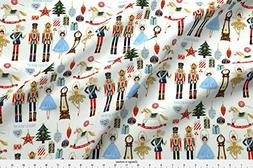 Spoonflower Christmas Fabric Nutcracker Christmas by Floramo