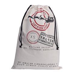 "IGBBLOVE Christmas Gift Bag Personalized Santa Sack 19.5""X27"
