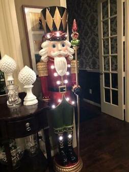 CHRISTMAS GRAND NUTCRACKER LIFE SIZE 6 FT LED LIGHTED PRE-LI