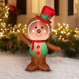 Christmas Inflatable LED Gingerbread Man Airblown Decoration