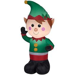 Christmas Inflatable LED Lighted Waving Elf Airblown Decorat