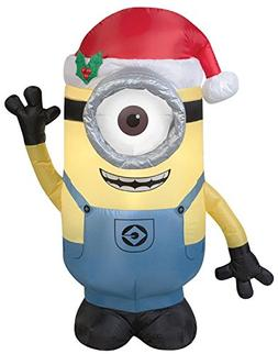 Gemmy Airblown Inflatable Stuart the Minion Wearing a Santa