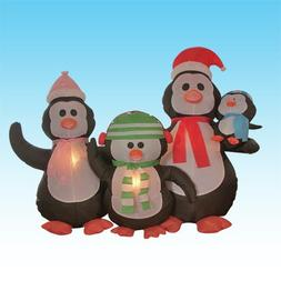 BZB Goods Christmas Inflatable Penguin Family Decoration