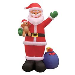 12 Foot Christmas Inflatable Santa Claus with Gift Bag and B