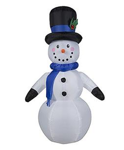 CHRISTMAS INFLATABLE 6' SNOWMAN W/ TOPHAT & SCARF OUTDOOR YA