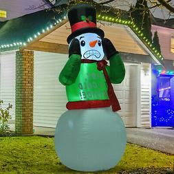 Christmas Inflatable Snowman Airblown Decoration 7ft In / Ou