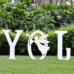 Teak Isle Christmas Joy Angel Yard Sign
