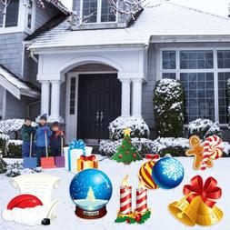 VictoryStore Yard Sign Outdoor Lawn Decorations: Christmas S