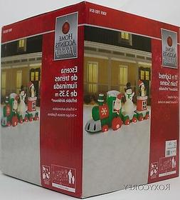 Christmas Home Accents Holiday 11 ft Lighted Santa Train Sce