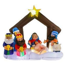Christmas Master Inflatable Holy Nativity Scene LED Yard Dec