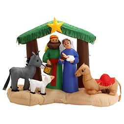 TCP Global Christmas Masters 6 Foot Wide Inflatable Holy Nat