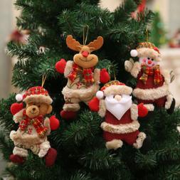 Christmas Ornaments Santa Claus Snowman Reindeer Toy Doll Ha