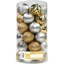 Holiday Time Christmas Ornaments Traditional 60mm Shatterpro