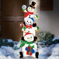 Christmas Outdoor Decoration Electric Yard Decor Snowmen Sta