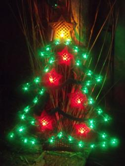 CHRISTMAS OUTDOOR LIGHTED TREE STAR TOPPER ORNAMENT SILHOUET