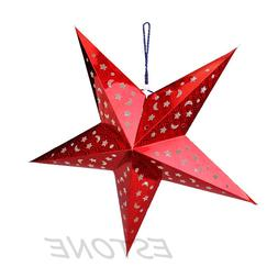 Christmas Reusable 30/45/60cm Pentagram Hanging Lamp Shade <
