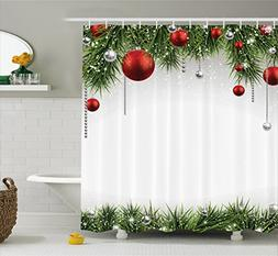 Ambesonne Christmas Shower Curtain Fabric Decorations by, Cl