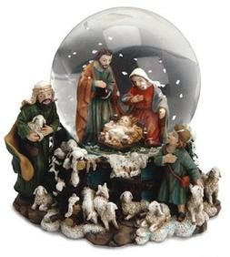Christmas Snow Globe or Waterball Holy Family & Shepherds