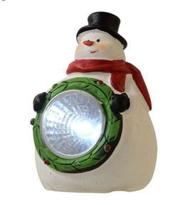 Christmas Snowman Snow Garden Light Solar Spotlights Lamp Fi