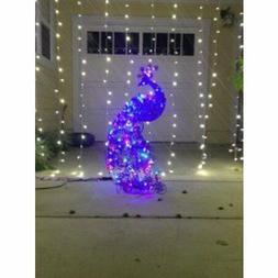 Christmas Sparkling LED Peacock Lights Outdoor Yard Sculptur