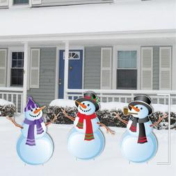 """Christmas """"Snowmen"""" Stand up Yard Decorations - Includes 6 S"""