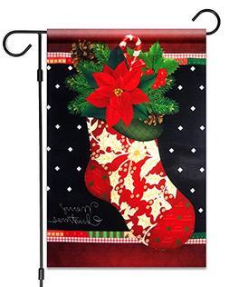 "51groups Garden Flag 12""X18"" Merry Christmas Decorative Flag"
