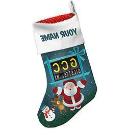Christmas Stocking GCC Airport Code for Gilette, WY Xmas nig