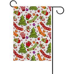 Johnnie Christmas Stocking Gloves Welcome Garden Flag 12 X 1