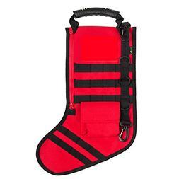 "Codream 18"" Christmas Stockings Burlap Stocking 3D Christmas"