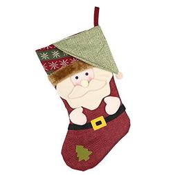 Whitelotous Christmas Stockings - Cute Santa Claus Snowman a