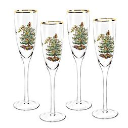 Spode Christmas Tree Champagne Flutes