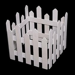 Remeehi Christmas Tree Decor Wall Border Picket Fence Window