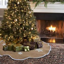 Aytai Christmas Tree Skirt 48 inches Xmas Burlap Tree Skirts