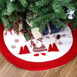 Totoose Christmas Tree Skirt 36 inches Cute Santa Claus Snow