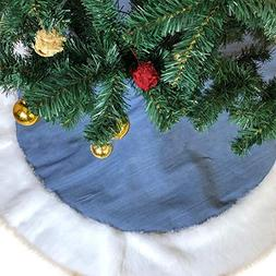 WeeH Christmas Tree Skirt Fur Xmas Tree Skirts Mat Vintage P