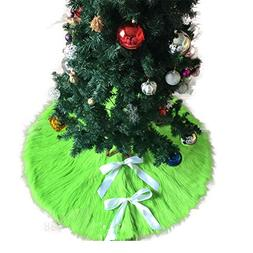 Eanpet Christmas Tree Skirt Fur Xmas Tree Skirts Mat Pure Fa