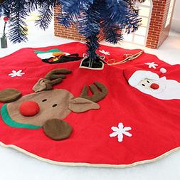 Amerzam Christmas Tree Skirt Mat for Christmas Holiday Party