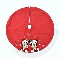 "Disney Christmas 48"" Tree Skirt Minnie & Mickey 2016"