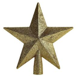 Christmas Tree Sparkle Star Topper Ornament Gold  Home Party