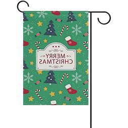 GRATIANUS Christmas Tree Stocking Pattern Double Sided Polye