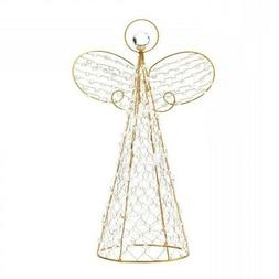 Christmas Tree Topper Angel, Beaded Decoration Yard Outdoor