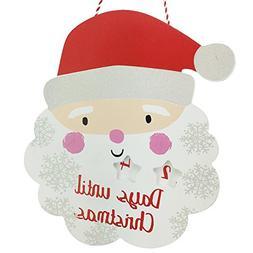 Christmas Wooden Santa Claus Advent Calendar Hanging Plaque