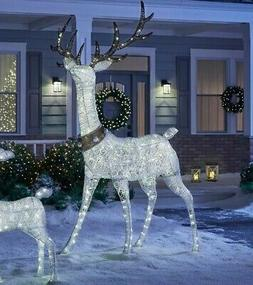 Christmas Yard Decorations Lights Decor LED White 9 ft Stand