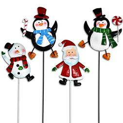 Gift Boutique Christmas Yard Garden Stakes Decor, Set of 4 C