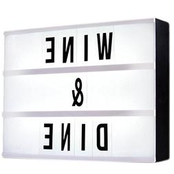 LED Cinematic Light Box,WONFAST 180 Letters Changeable Numbe
